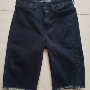 Free people size 24 high waist blue jean shorts